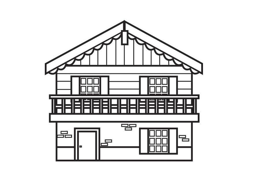 Dibujo para colorear chalet img 23159 for Fachadas de casas modernas para colorear