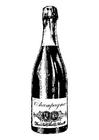Dibujo para colorear champán
