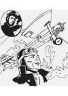 Dibujo para colorear Charles Lindbergh
