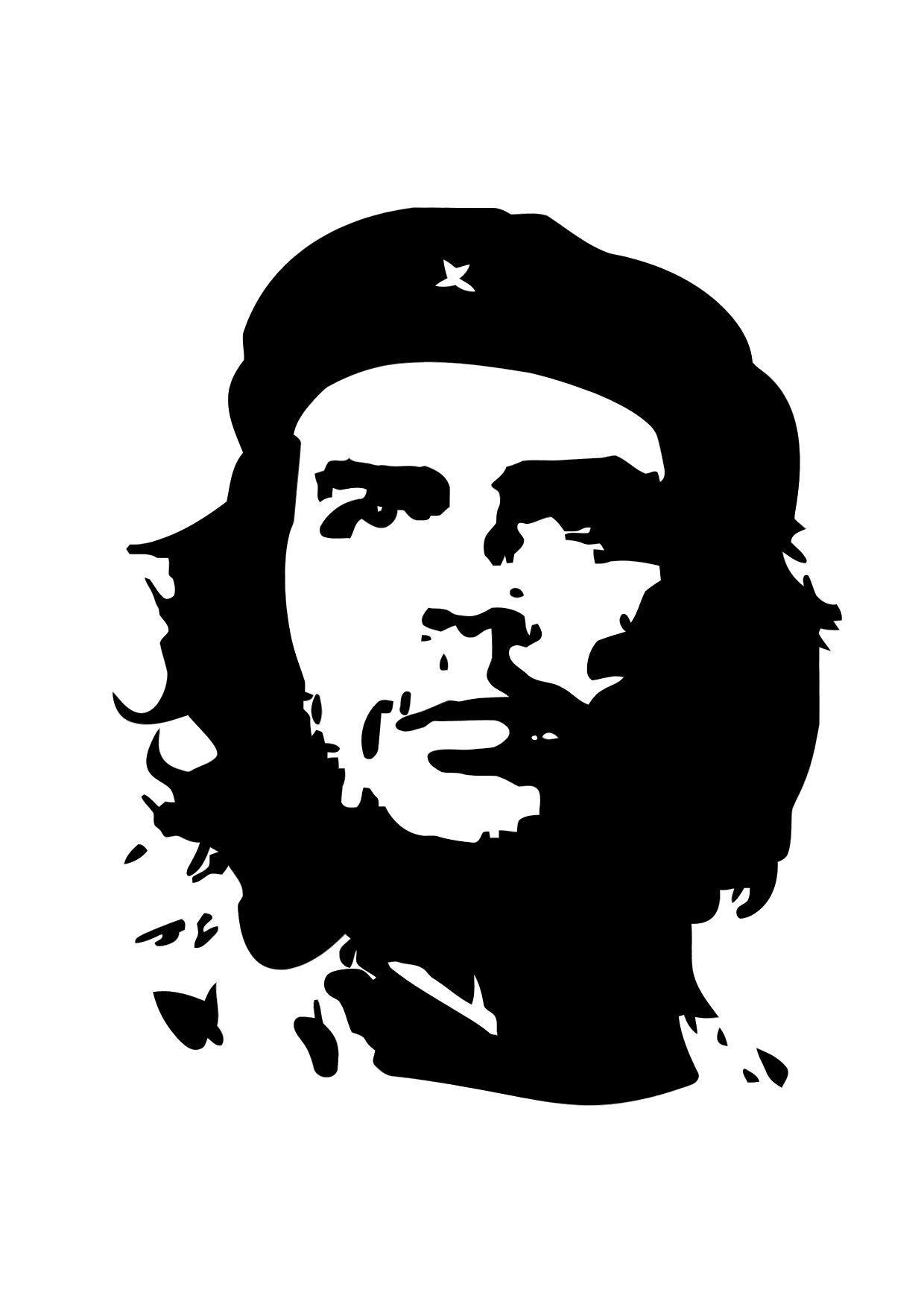 Dibujo para colorear Che Guevara - Img 11305