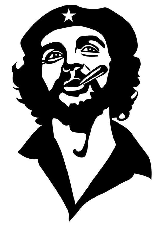 Kleurplaat T Shirt Dibujo Para Colorear Che Guevara Img 24689