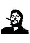 Dibujo para colorear Che Guevara