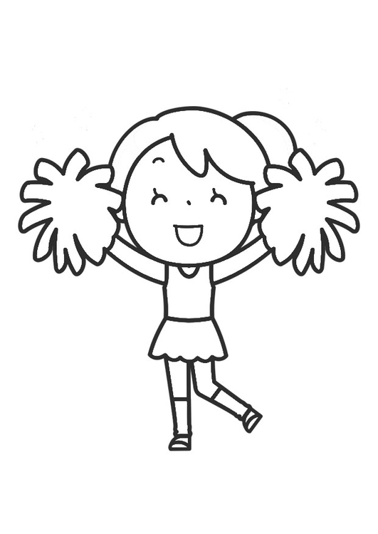 Dibujo para colorear cheerleading - Img 30261