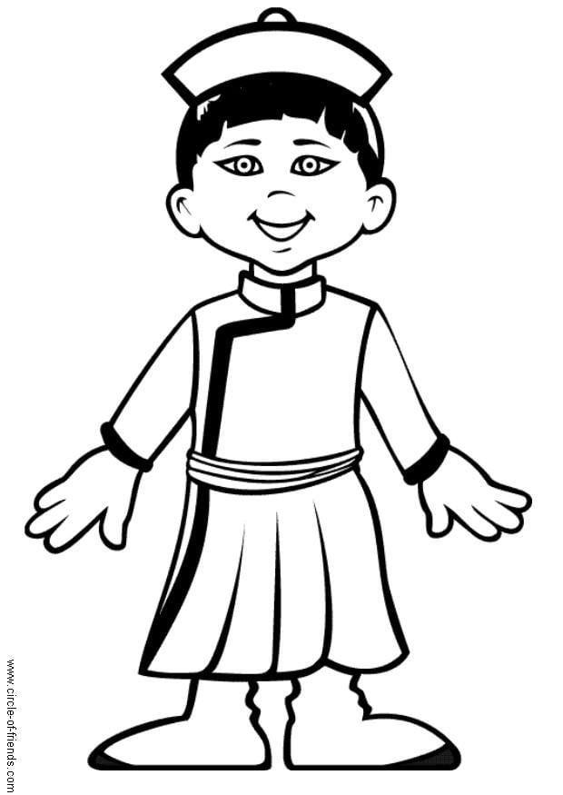 Dibujo para colorear chen de china img 5616 for Calciatori da colorare per bambini