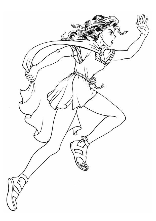 Dibujo para colorear Chica celta - Img 8902