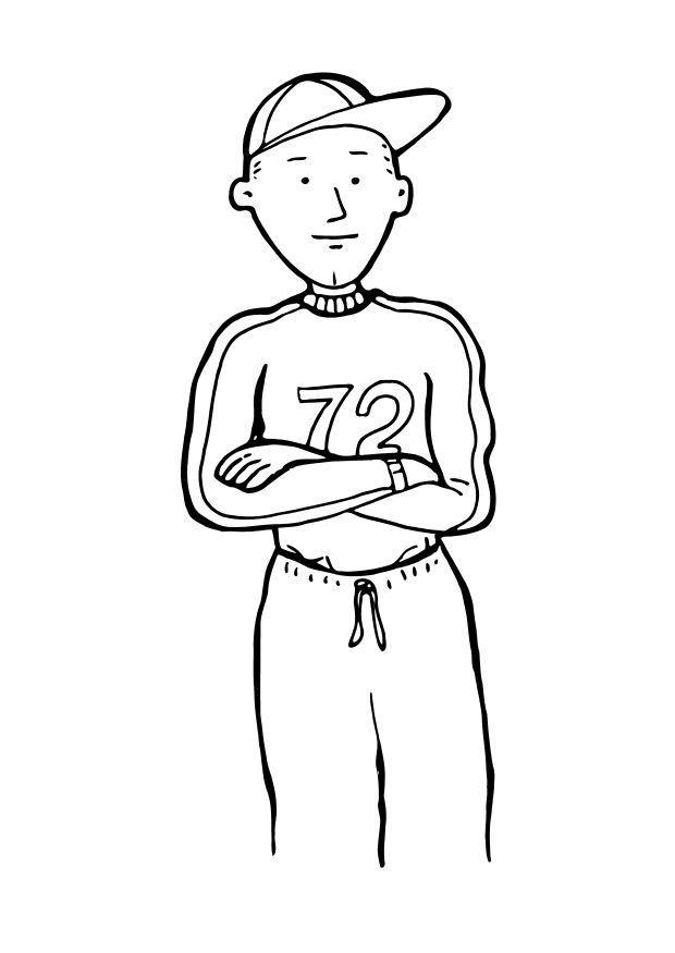 Dibujo para colorear Chico - deportivo - Img 10238