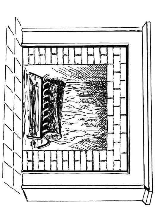 Dibujo para colorear chimenea img 18916 - Dibujos de chimeneas de navidad ...