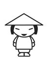 Dibujo para colorear chino