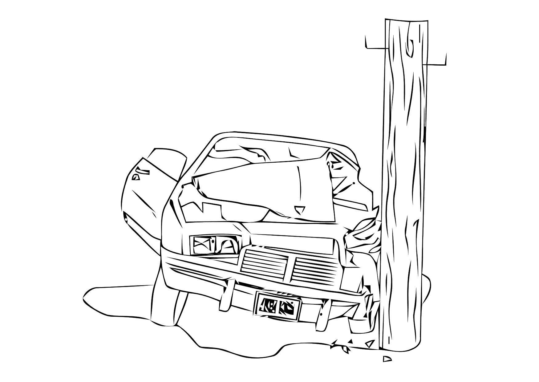 Dibujo para colorear Choque - accidente - Img 11406
