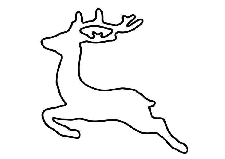 Dibujo para colorear ciervo - Img 27263