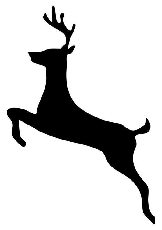 Dibujo para colorear ciervo - Img 20763