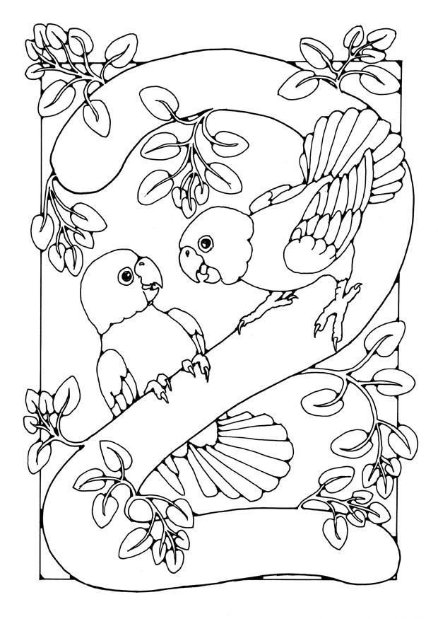 Cijfer 8 Kleurplaat Dibujo Para Colorear Cifra 2 Img 21877 Images