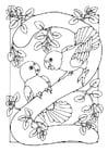 Dibujo para colorear cifra - 2