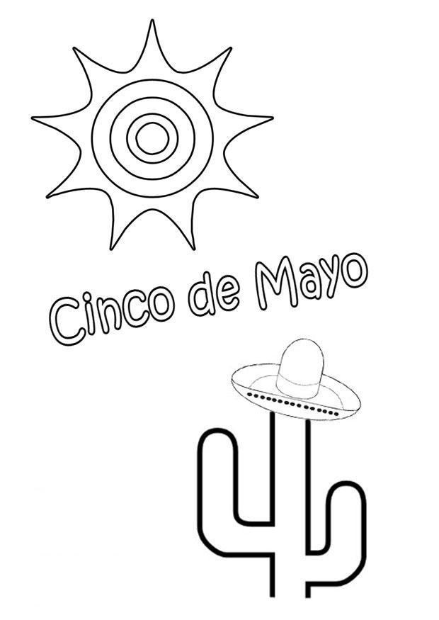 Dibujo para colorear Cinco de mayo - Img 22134
