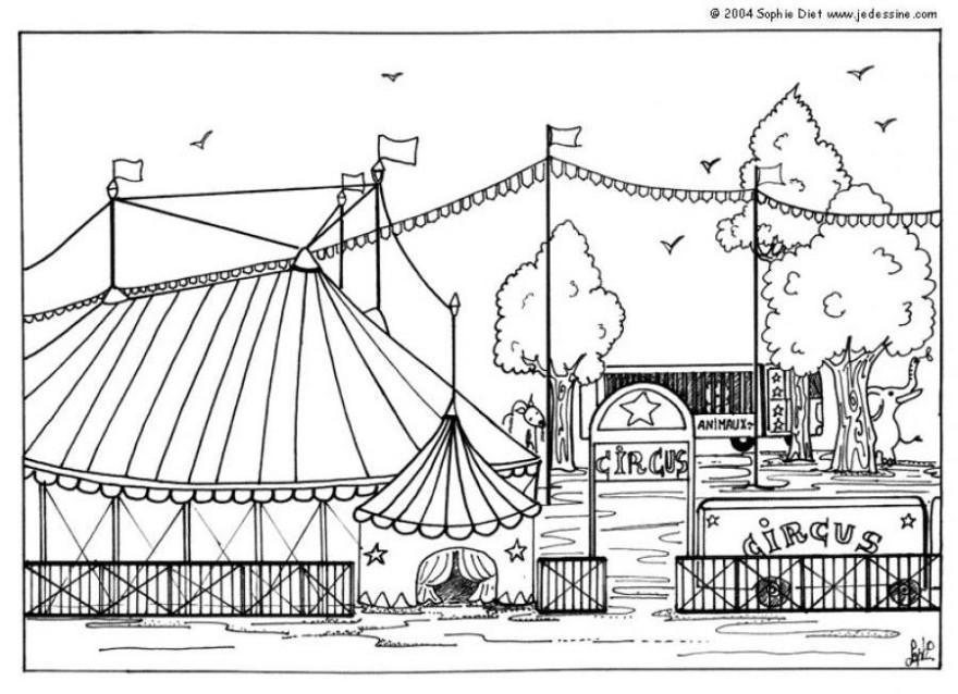 Dibujo Para Colorear Circo Img 6434