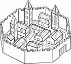 Dibujo para colorear Ciudad amurallada