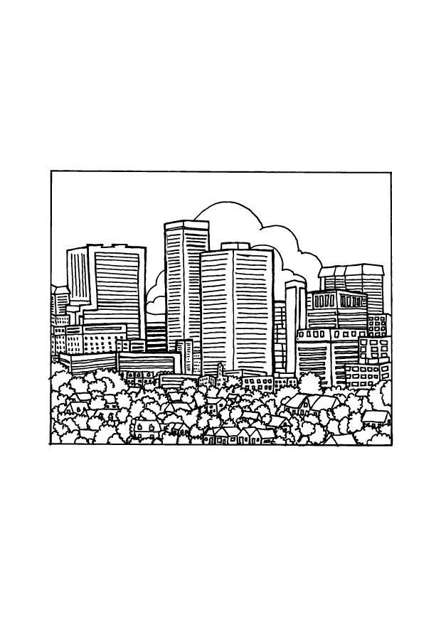 Volwassenen Y Kleurplaten Dibujo Para Colorear Ciudad Img 9692 Images