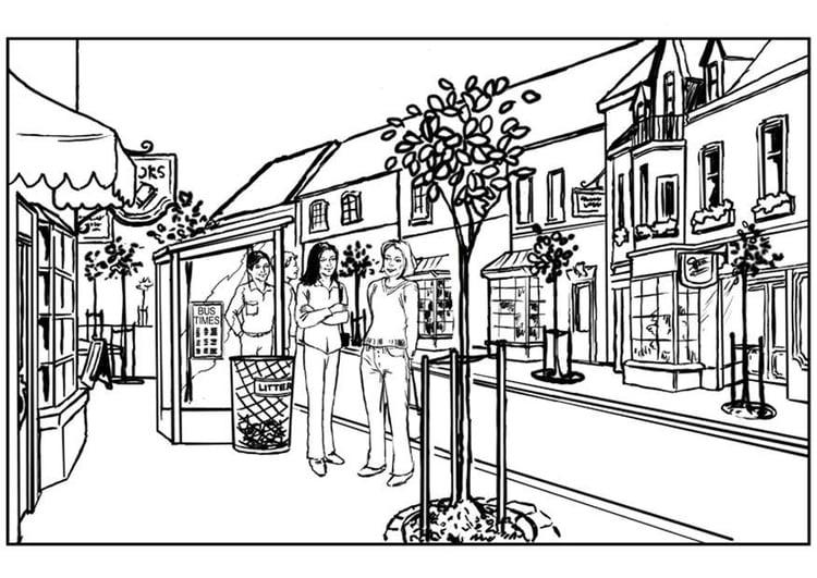 Dibujo Para Colorear Ciudad Dibujos Para Imprimir Gratis