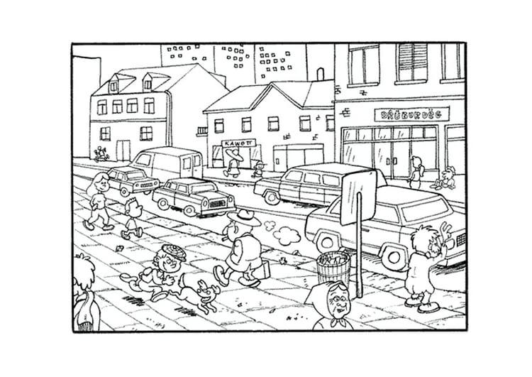 Dibujo Para Colorear Ciudad
