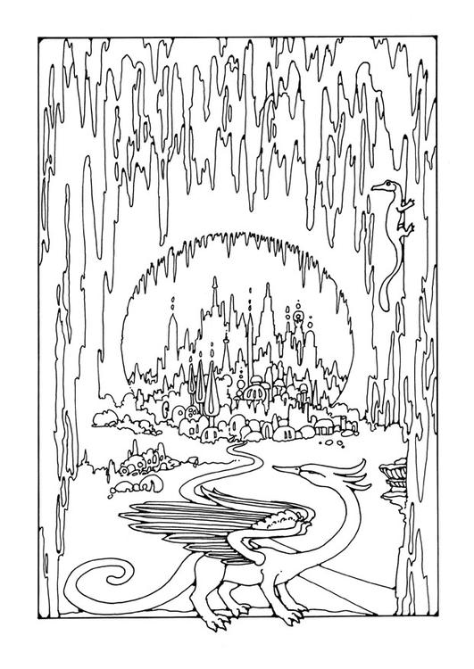 bat cave coloring pages | Inside Cave Coloring Page Coloring Pages