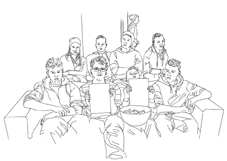 Dibujo para colorear club juvenil - Dibujos Para Imprimir ...