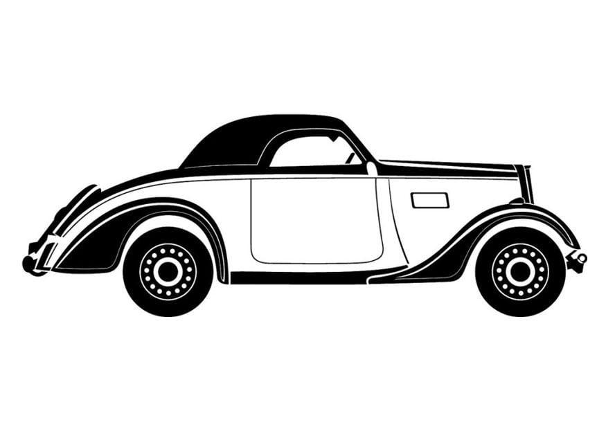 Descargar 1024x1024 Coches Vehículos Automóviles: Dibujo Para Colorear Coche Antiguo
