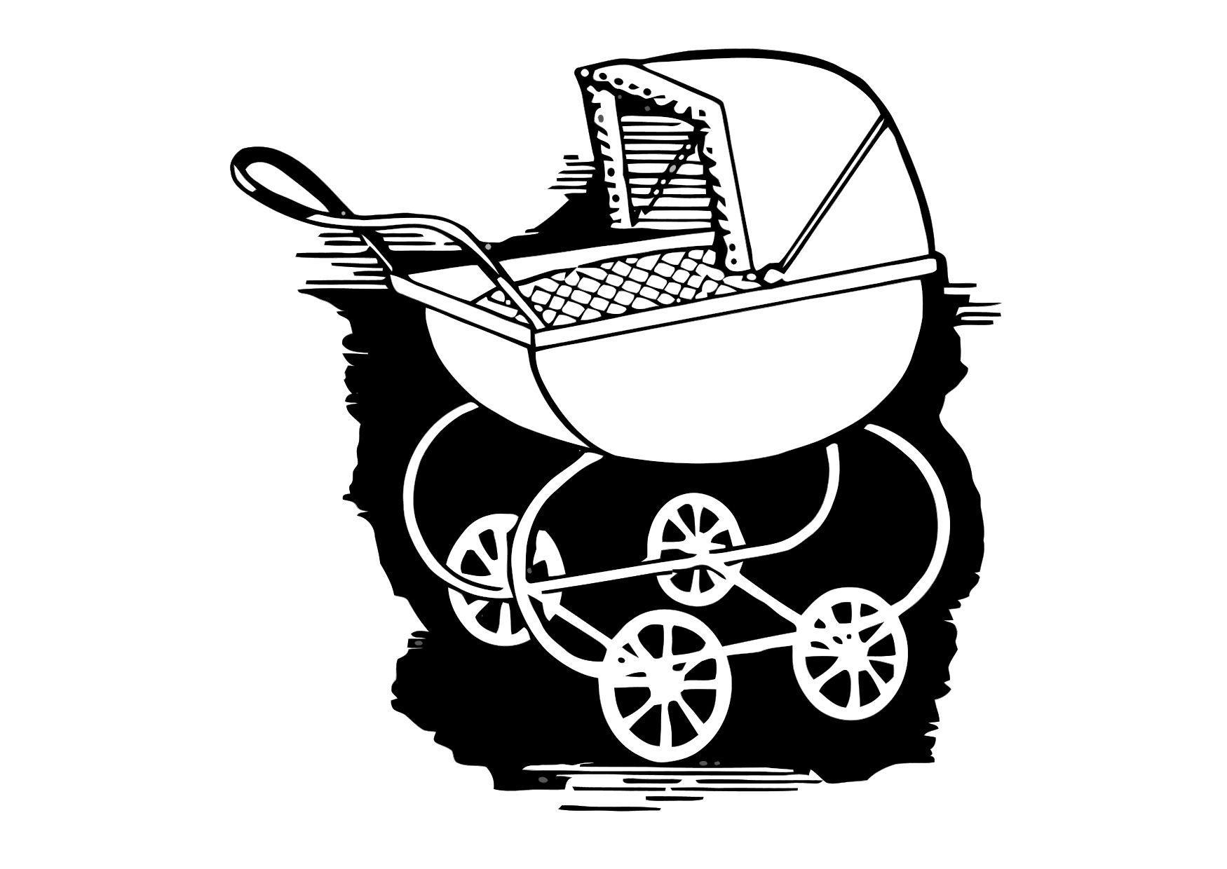 Dibujo para colorear Coche de bebé - Img 11878