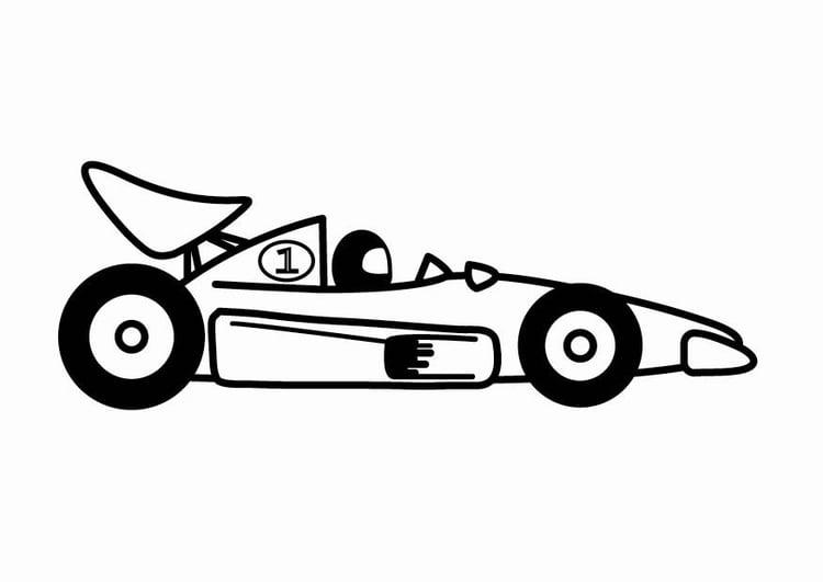 Dibujo Para Colorear Coche De Carreras De F1 Dibujos Para