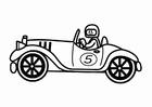Dibujo para colorear coche de carreras retro