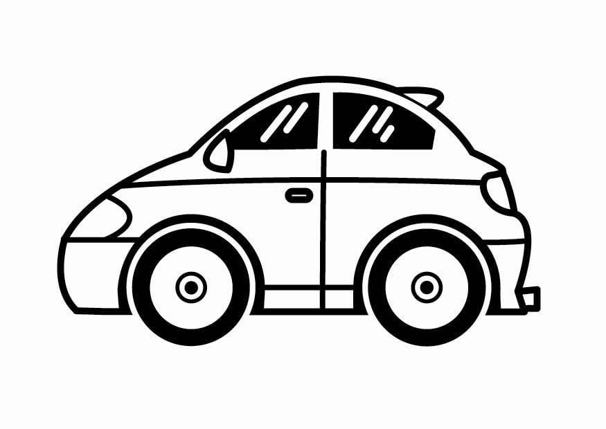 Descargar 1024x1024 Coches Vehículos Automóviles: Dibujo Para Colorear Coche De Juguete