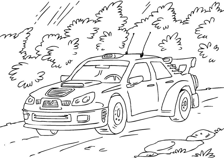 Dibujo para colorear coche de rally   Img 27170