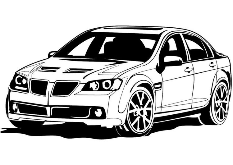 Dibujo para colorear coche deportivo - Img 24733