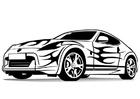 Dibujo para colorear coche deportivo