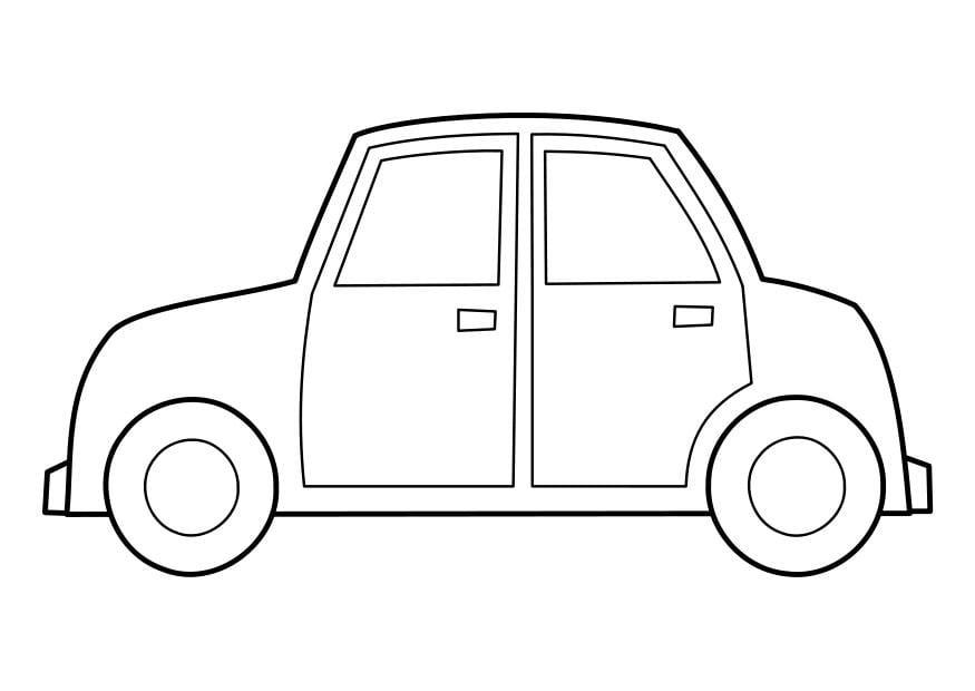 Descargar 1024x1024 Coches Vehículos Automóviles: Dibujo Para Colorear Coche