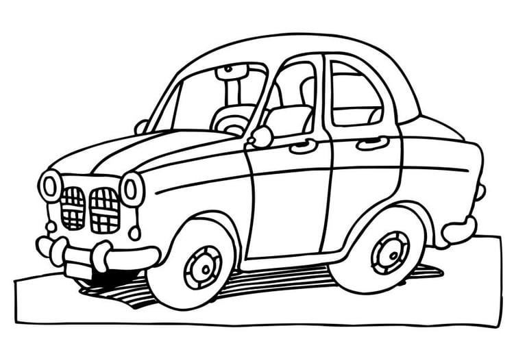 Dibujo para colorear Coche - Img 6474