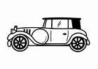 Dibujo para colorear coche retro