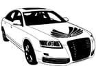 Dibujo para colorear coche