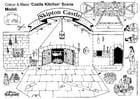 Dibujo para colorear cocina del castillo de Skipton