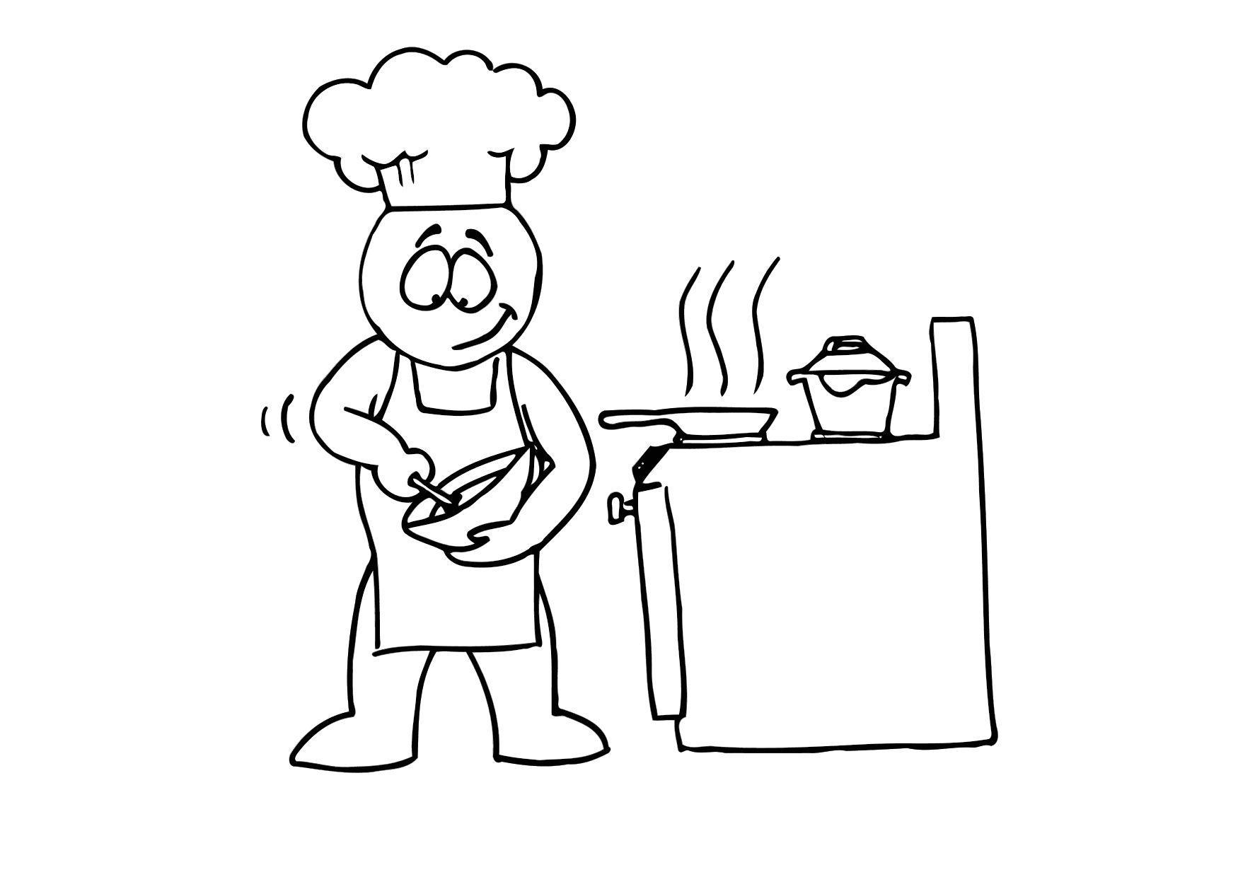 Dibujo para colorear cocinar img 11685 for Cocinar imagenes animadas
