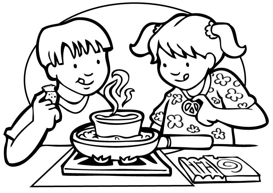 Dibujo para colorear Cocinar - Img 7141