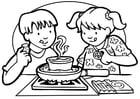 Dibujo para colorear Cocinar