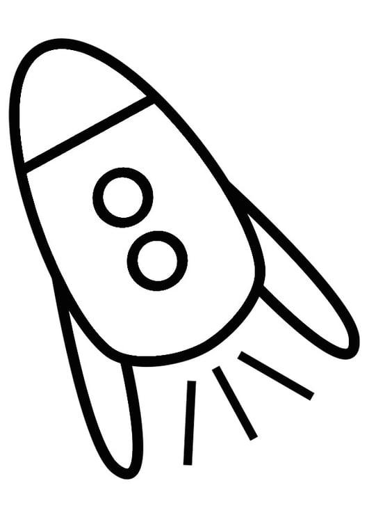 Dibujo para colorear cohete - Img 19251