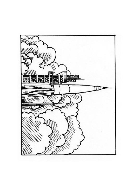 Dibujo para colorear Cohete - Img 10436