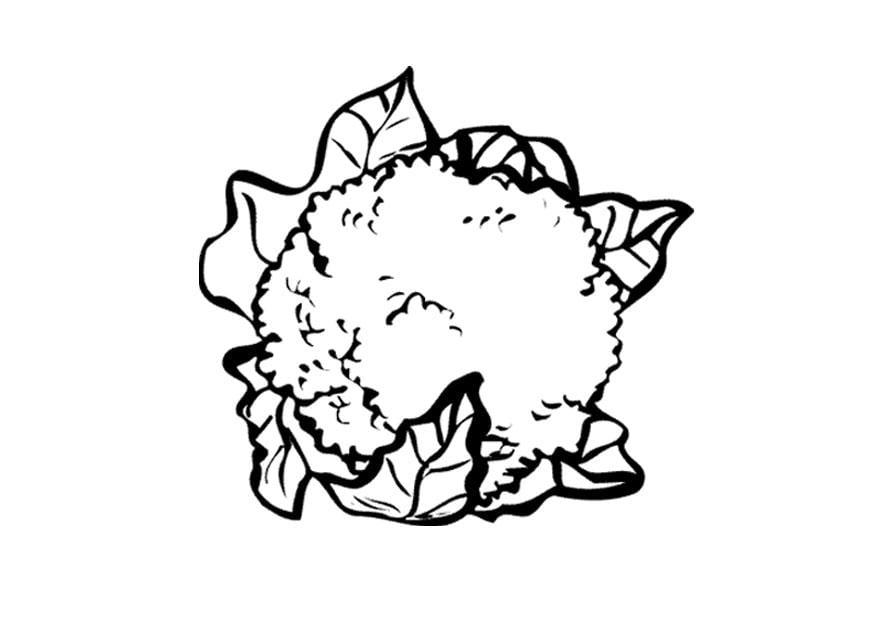 dibujo para colorear coliflor