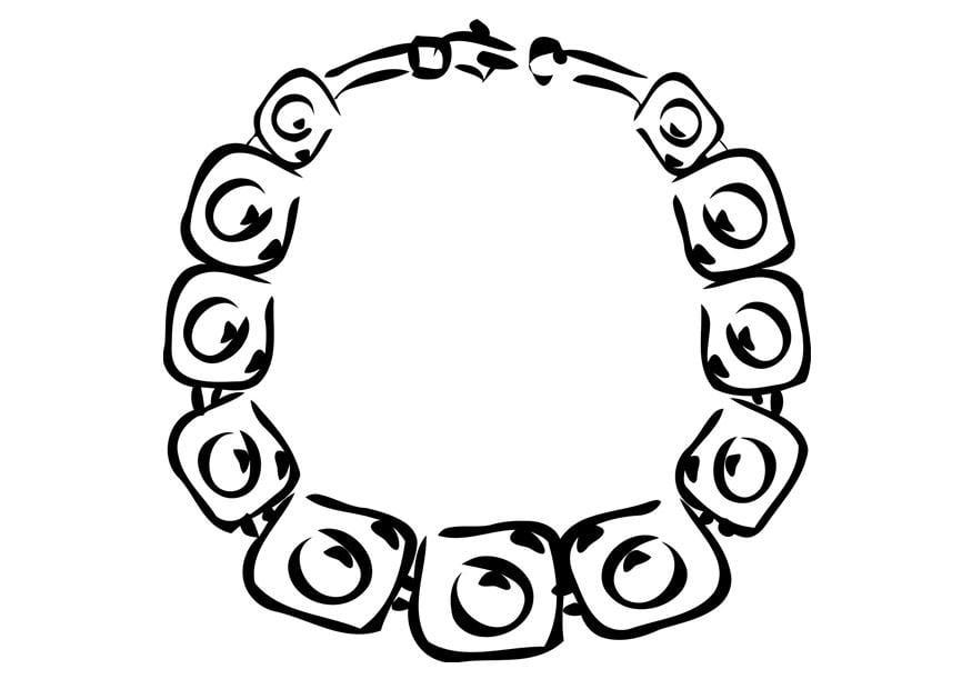 Dibujo para colorear collar - Dibujos Para Imprimir Gratis