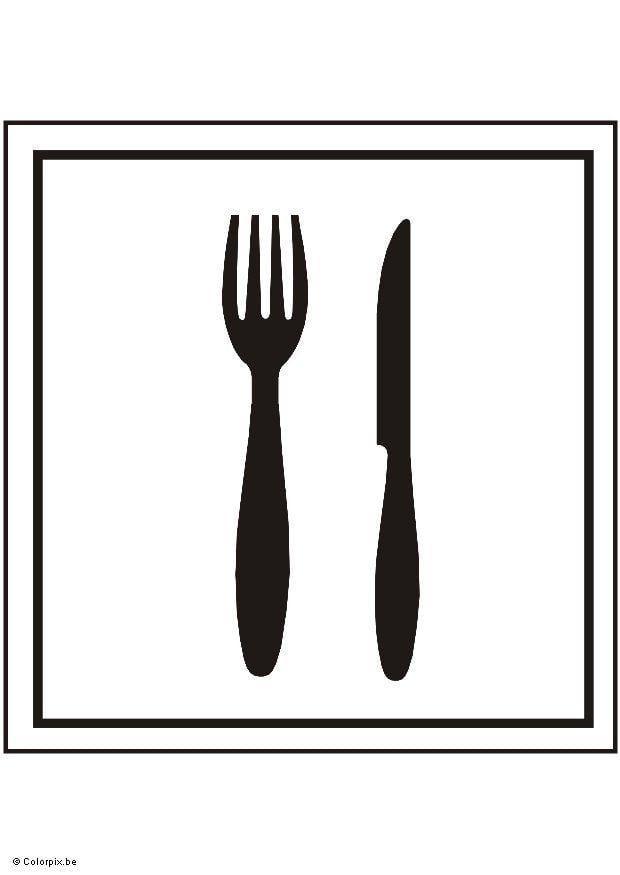Dibujo para colorear comedor img 5415 for Comedor para dibujar