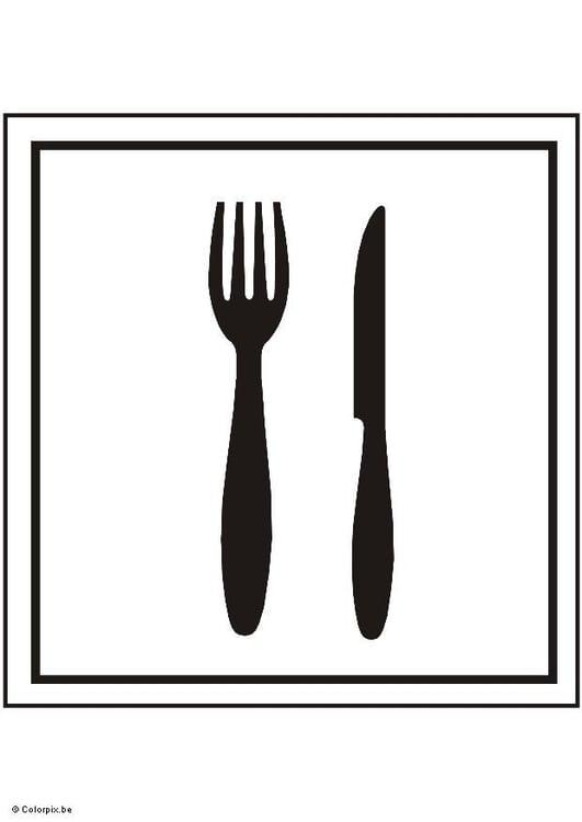 Dibujo para colorear comedor img 5415 for Dibujo de comedor escolar