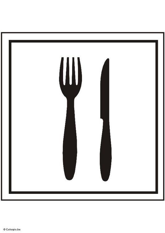 Dibujo para colorear comedor img 5415 for Comedor para colorear