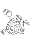 Dibujo para colorear Conejito de pascua