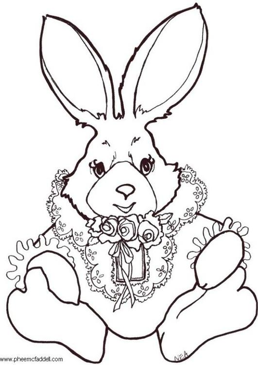 Dibujo Para Colorear Conejo De Colores